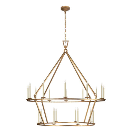 Tailored Transitional Chandelier Visual Comfort