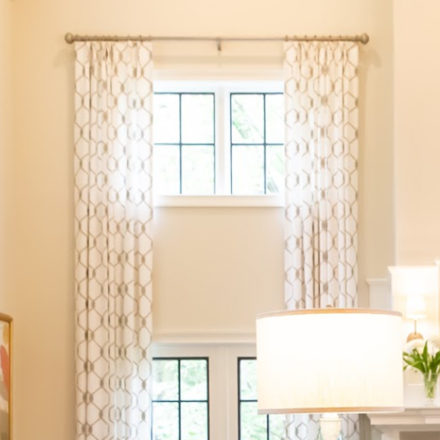 Tailored Transitional Window Treatments