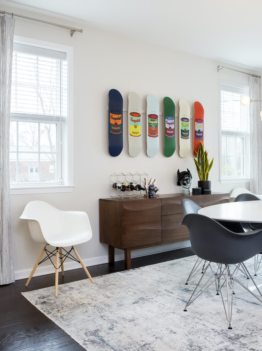 dining-room-table-chairs-skateboard-wall-art-interior-design
