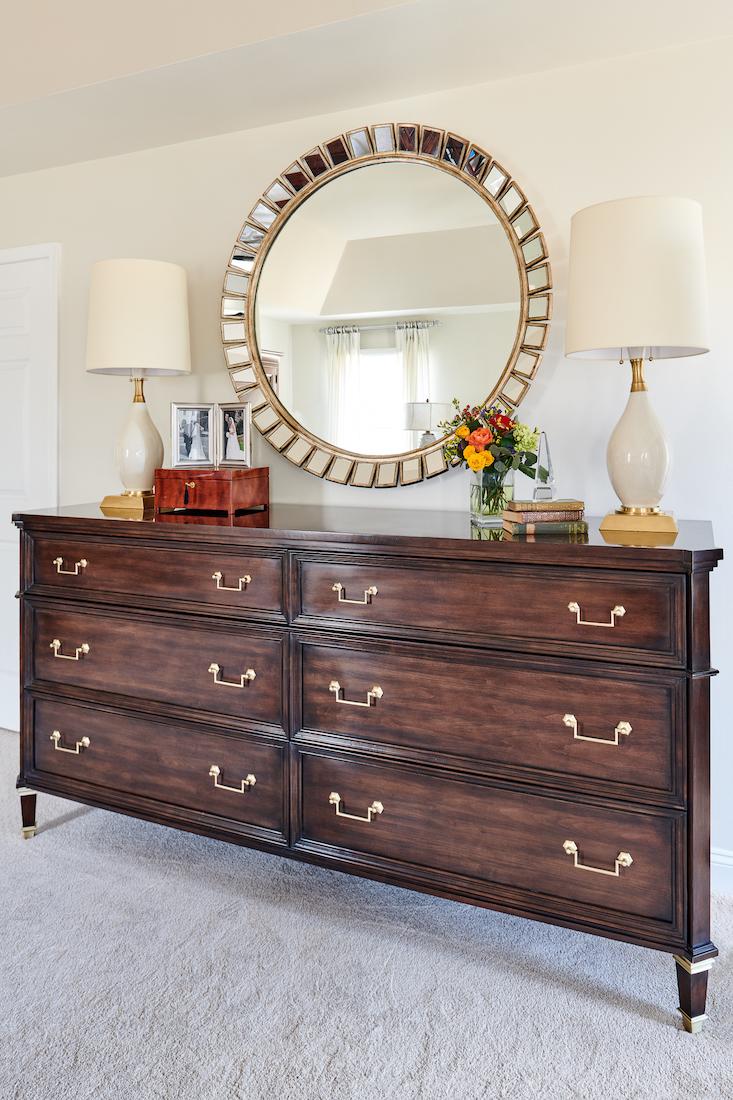 bedroom-wooden-dresser-round-mirror-princeton-nj