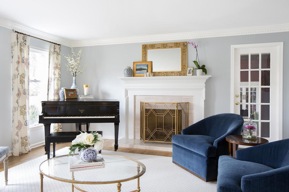 blue-chairs-white-mantel-fireplace-interior-design-karin-eckerson-interiors