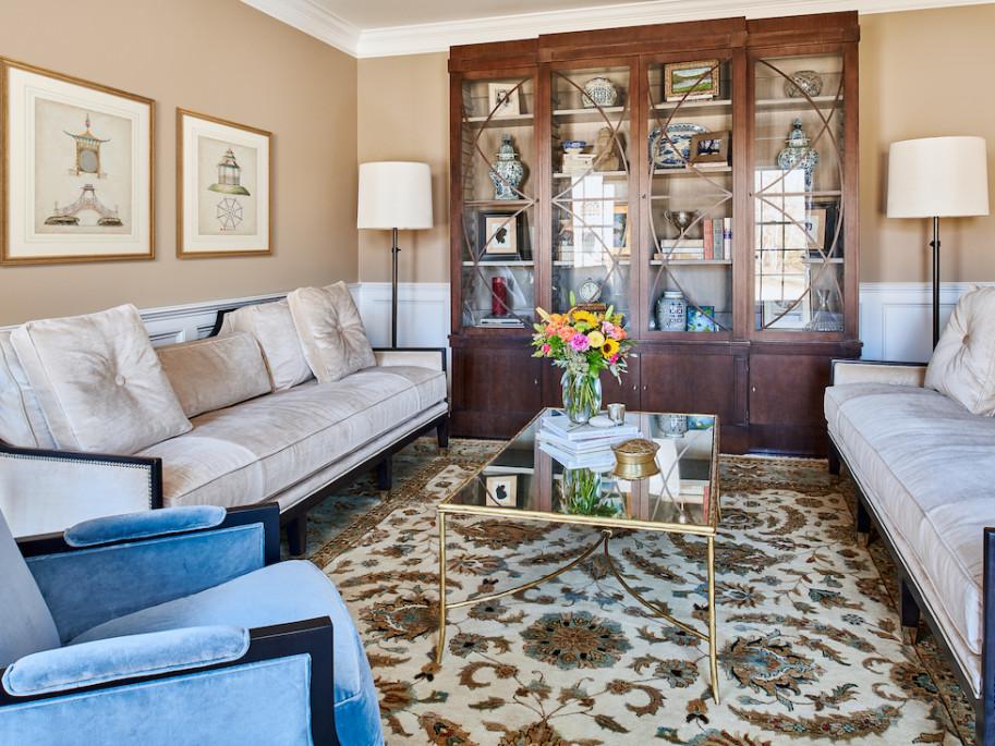 Princeton Nj Living Room Interior Design Wood And Glass China Cabinet