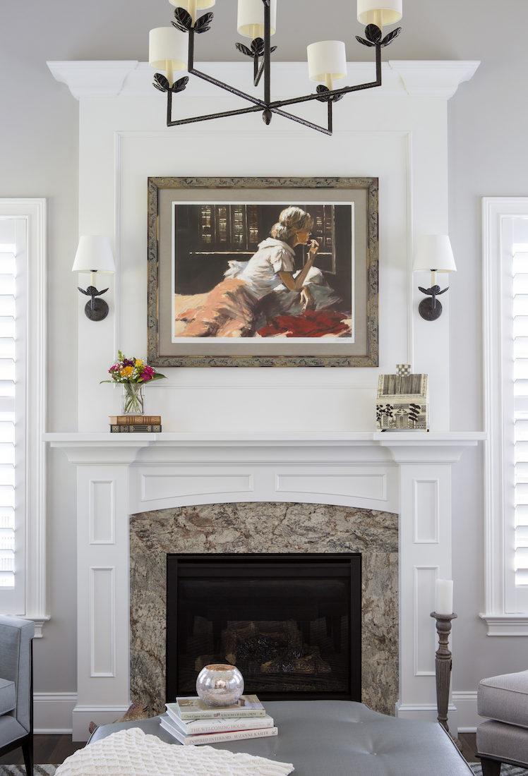 solarium-fireplace-mantel-artwork-interior-design